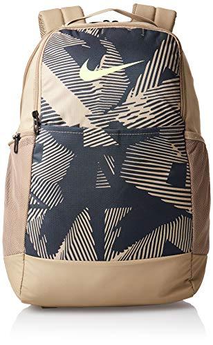 Nike Brasilia AOP SP20 Rucksack Unisex, Khaki/Dk Smoke Grey/Ghost Gree, 1size
