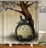N/A La Cortina de Ducha My Privacy Totoro Cartoon Protect Privacy, la Cortina de Ducha Impresa es fácil de Quitar