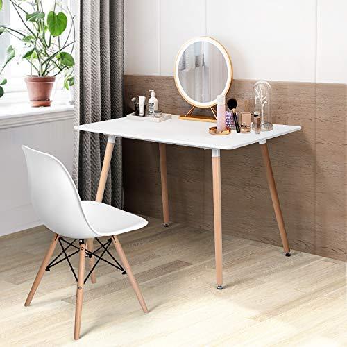 FurnitureR Eames Mesa de Comedor Mesa de Comedor Rectangular con Patas de Madera Mesa de Centro de Ocio…