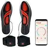 Thermrup Smart Electric Heated Insoles Far Infrared (FIR) Foot Warmers APP Bluetooth Remote Control, Size 4.5-14