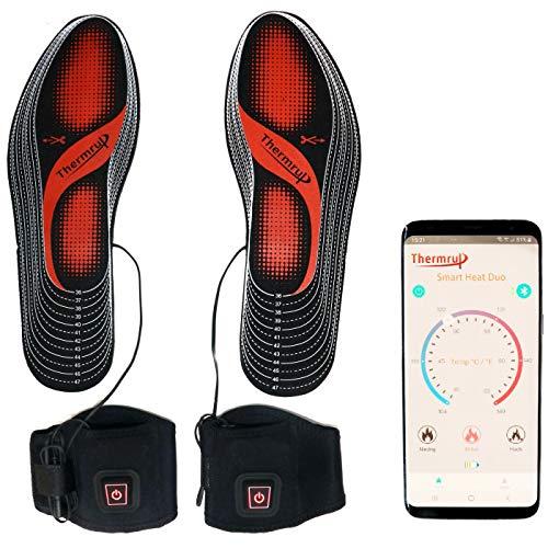Thermrup Smart beheizbare Einlegesohle App gesteuert,Größe: 35-48(zuschneidbar)