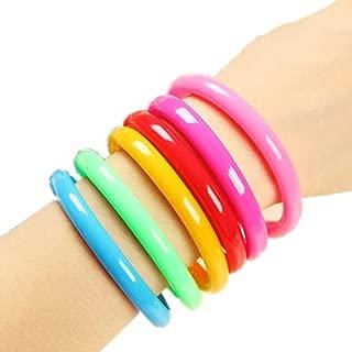 Bonitas pulseras de color caramelo personalizadas con bolígrafos de tinta de gel para oficina, escuela, estudiantes, niños, regalo, color al azar, 6 unidades
