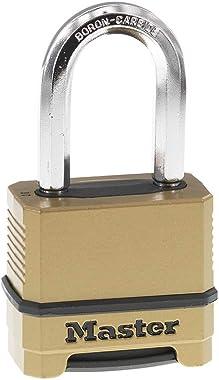 Master Lock M175XDLF Heavy Duty Outdoor Combination Lock, 1-1/2 Inch Shackle, Brass Finish