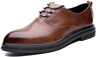 Men's Business Oxford Casual Modishness Classic Outsole Pointed Elementary Formal Shoes casual shoes (Color : Brown, Size : 39 EU)