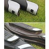 ChengBeautiful Tragbare Angeltasche Angel Bag Edelstahl-Bauch-Angelausrüstung Tasche als Geschenk for Dad Angelrutenbeutel (Color : Black, Size : 120x20cm)