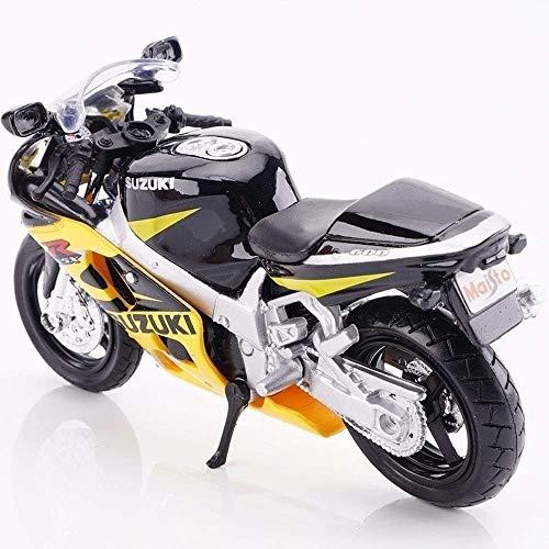 Zeyujie 1/18 Modell Motorrad Kawasaki H2R Dukadi Dämon Simulation Geschenk Yama-Ha YZF-R1Model Motocross Schwarz...