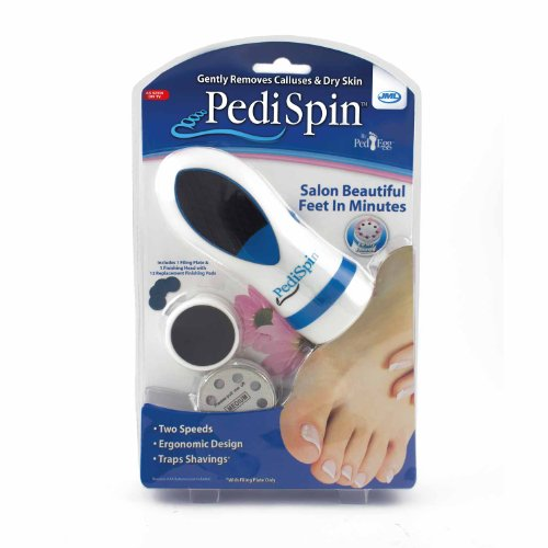 Pedi Spin Electronic Foot Callus Removal Kit As Seen on Tv so Fast Smooth 1 Pc/Pack
