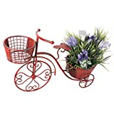 Waroom Bicycle Plant Stand Flower Pot Holder Display Rack Metal Bike Frame Decorative Indoor Outdoor Garden Yard Planter