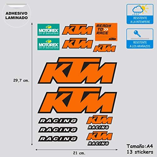Imagen de Adhesivo KTM Stickersracing por menos de 8 euros.