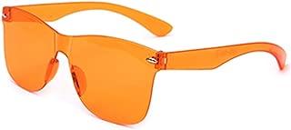 GaitserBY Superior Quality Oversized Rimless Rectangle Sun Glasses UV400 Sunglasses Eyewear Sun Shades Integrated Sunglasses