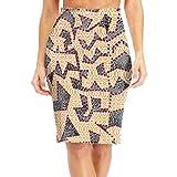 Animal Print Slim Cintura Alta Bodycon Elegante Faldas Lápiz de Longitud Media Falda de Fiesta Impresa L