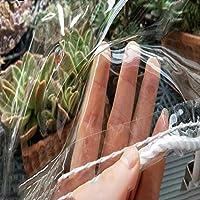 植物ターポリン透明防水、アイレット付き0.3MMPVCプラスチックタープ、ヘビーデューティーユニバーサルクリアキャノピー、花温室シートカバー、防雨凍結防止防風(1.5x1.5m/4.9x4.9ft)