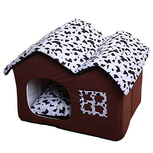 didatecar Hundebett Katzenbett Hundehöhle Hundehütte Winter Warm Pet House Soft Waschbare Plüsch Hundehütte Haustier Haus Und Sofa