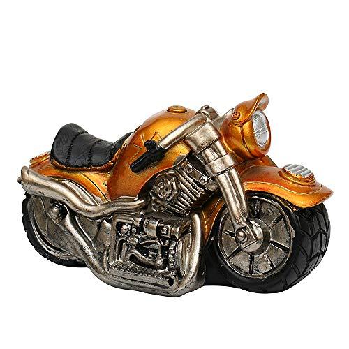 Dekohelden24 Hucha original de moto en amarillo, con cierre de goma, tamaño aprox. 17 x 9 x 10 cm.