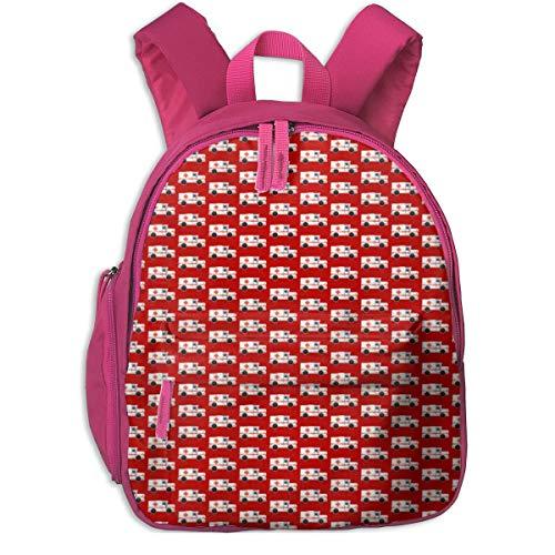 JKSA Ambulancia Classic Students School Bag Mochilas para niños Rosa