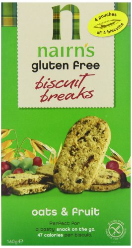 Nairns Gluten Free Biscuit Break Oats and Fruit 160 g (Pack of 12)
