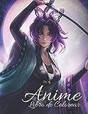 Anime: Libro de Colorear: Regalo perfecto para adultos y adolescentes. Disfrute de horas de diversión y relajación, y más.