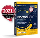 Norton 360 Premium 2021, Antivirus per 10 Dispositivi, Licenza di 1 anno con rinnovo automatico, Secure VPN e Password Manager, PC, Mac, tablet e smartphone