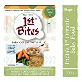 PRISTINE 1st Bites Stage 3 Organic Baby Cereal with Milk, Wheat Spinach and Carrot Powder, 10 Months...