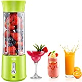 Portable Blender, TKTK 18 Oz Personal Blender for Shakes and Smoothies, 150W Powerful Smoothie Blender with Rechargeable USB, 6 Blades, PCTG Food Grade for Travel, Office