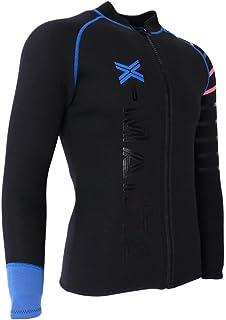 perfeclan 2mm Neoprenanzug Jacke Neopren Oberteile Tauchenanzug Bademode Surf Shirt Badeshirt