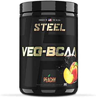 STEEL Supplements Veg - BCAA | Vegan BCAA | Gluten Free | Increased Muscle Growth | Endurance | Enhanced Recovery | Anabol...
