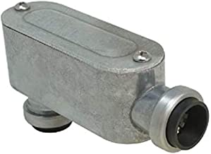 "Southwire E-LB-075 3/4"" Push Install Type EMT LB Conduit Body, Gray"