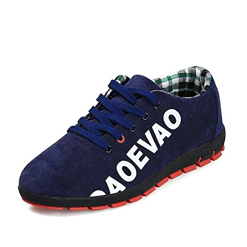 Hommes Unisexe Couple Sneakers Casual Toile Chaussures Solide Couleurs Low Top Lace Up Flat Fashion , b , 39