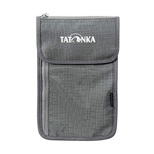 Tatonka Unisex– Erwachsene Neck Wallet Brustbeutel, titan grey, 14 x 22 x 1 cm