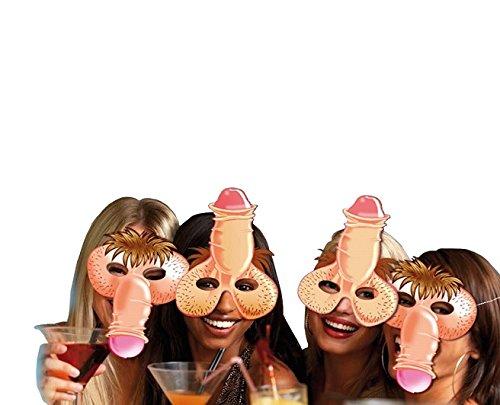 DC Lot de 4 Masque Humoristique - Zizi - Carton Souple