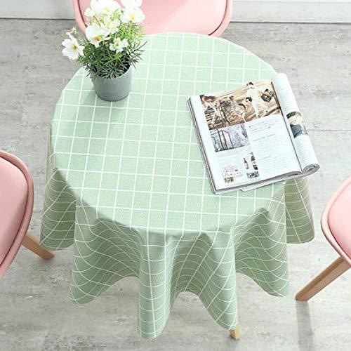Traann Plastic tafelkleden afwisbaar, rond groen vierkant van Modern / Protector Textile Backing 140