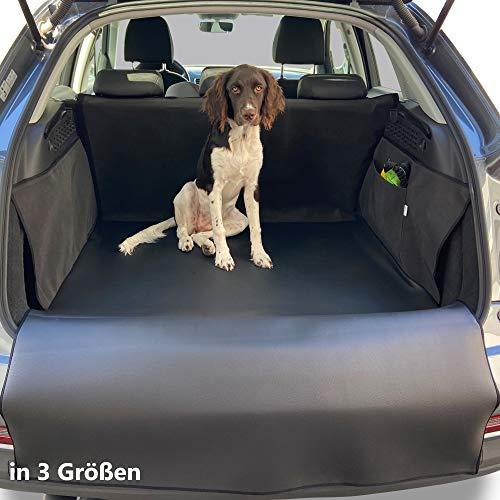 PaulePet Kunstleder Kofferraumschutz Hund mit Ladekantenschutz in 3 Größen - Universale Autodecke für Kombi, SUV - Kofferraumschutzdecke wasserabweisend & pflegeleicht (XL)
