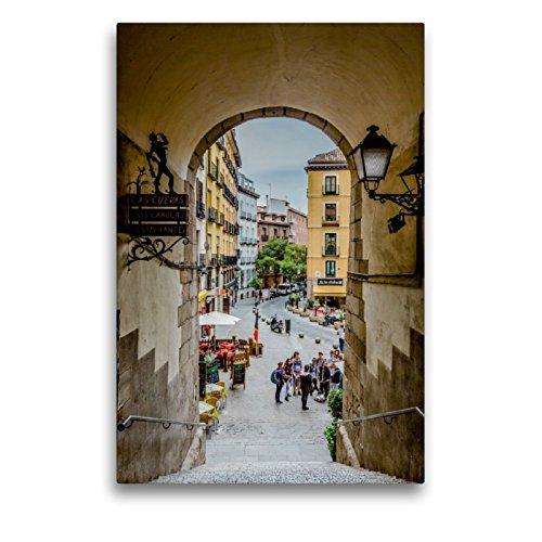 CALVENDO Premium Lienzo 50 cm x 75 cm de Alto Arco de Cuchilleros Imagen de Pared, Imagen sobre Bastidor, Listo en Lienzo auténtico, impresión en Lienzo: Madrid – España Orte Lugares