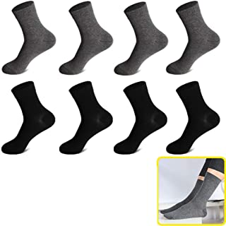 WTFYSYN Calcetines Transpirables de Corte bajo y Rendimiento,Men's Wear-Resistant Medium Tube Socks, Solid Color Full Deodorant Cotton socks-Color13