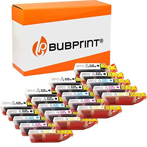 20 Bubprint Druckerpatronen kompatibel für Canon PGI-550 CLI-551 XL für Pixma IP7200 IP7250 IX6850 IP8750 MG5450 MG5550 MG5650 MG6350 MG6450 MG6650 MG7150 MG7550 MX725 MX920 MX925 Multipack