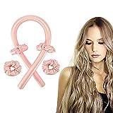 Abailu Tik Tok Best Heatless Curling Rod Headband. Women Heatless Hair Curlers for Long Hair. No Heat Silk Curls Headband(pink)