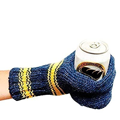 Suzy Beer Mitt, Knit Beverage Insulating Koozie, Beer Glove Keeps Your Drink Cold and Your Hand Warm