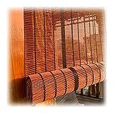 WENZHE Estores de Bambú Venecianas Persiana Enrollables, Diseño Semiprivado Filtrar Dividir Pantalla, Usado para Villa Hotel Pabellón Salón, Personalizable (Color : Maroon, Size : 100x160cm)