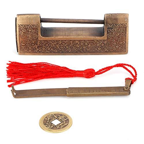 Sdfafrreg Candado de Cobre, candado de Cobre, candado Antiguo fácil de Instalar, Material de Cobre Fino Cajas de Herramientas duraderas para Cajas de Madera Antiguas Cajas de(5cm spacing)