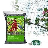 Eluck Vogelnetz, Gartennetz, Gartennetz, Teichnetz, schützt Obst, Pflanzen vor Vögeln und Tieren, 1,9 x 2,7 m, quadratische Maschengröße mit Spiralbindung für den Garten