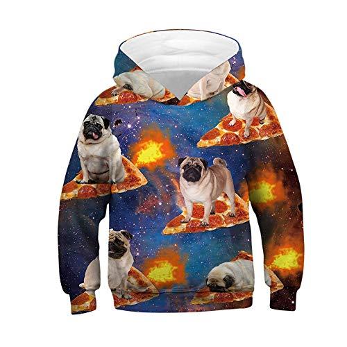 NAID kinderen sweatshirt mode 3D pizza kinderen jongens jas kostuum jas 3D hondenprint jas meisjes hoodie Kerstmis kind cadeau