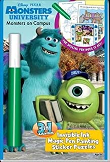 Monsters University Monsters on Campus 3 in 1 Invisible Ink Magic Pen Activity Book