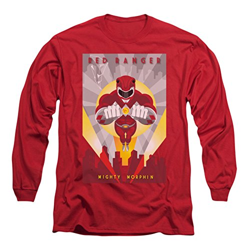 Power Rangers/RED Deco-L/S Adult 18/1-RED-SM