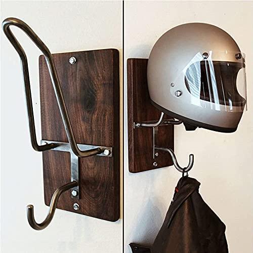 PRINI Gancho para casco de motocicleta y chaqueta, soporte para casco de fútbol, soporte para casco de pared, accesorios para casco de motocicleta, gancho para almacenamiento de abrigos