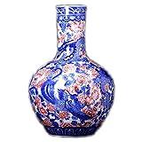 LLSS Jarrones de cerámica de Estilo Chino con dragón y Fénix, jarrones Chinos Pintados a Mano, artesanías y Regalos Ligeros de Lujo, B