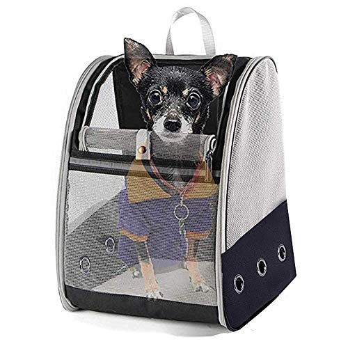 Hond Carrier Rugzakken, Ademende schoudertas, poreuze inklapbare huisdier rugzak, fiets, wandelen, reizen, winkelen, betaalbare huisdieren tot 6kg, 41 * 28 * 32cm