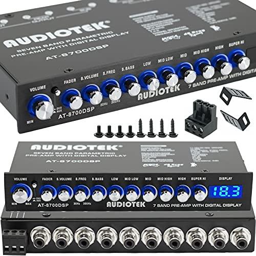 Audiotek 8700DSP 1/2 Din 7 Band ...