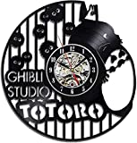 Mode kreative Totoro Rekord Wanduhr Persönlichkeit Vinyl Schallplatte Wanduhr Wanddekoration Wanduhr Quarzuhr