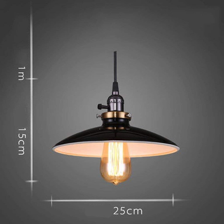 DEED Personnalité créative illuminé par la Lampe Rétro Style Industriel Couvercle Couvercle Lustre Bar Restaurant personnalité créatrice Lampes de Fer éclairage décoratif,B