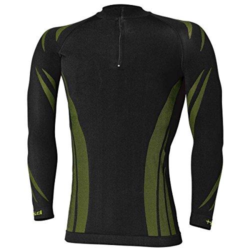 Held 3D Skin Winter T-Shirt pour Homme, Schwarz-grün, XL